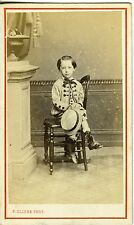 CARTE DE VISITE CDV UN ENFANT POSE MODE FASHION REIMS CLICHE PHOTO 1860