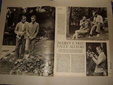 AUDREY HEPBURN FRED ASTAIRE clipping ritaglio articolo foto photo=ANNI '50=12