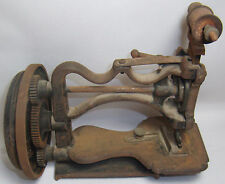 EARLY ANTIQUE SEWING MACHINE VINTAGE HAND CRANK CAST IRON
