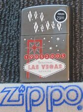 ZIPPO LAS VEGAS Lighter  100 YEARS Black Ice Finish STICKER  Unused WELCOME SIGN