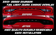 2015 2016 2017 Dodge Charger Full Tail Light Dark Smoke Overlay Tint smoked out