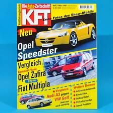 KfT Kraftfahrzeugtechnik 3/1999 Opel Speedster Honda HR-V Audi A4 Avant Renault
