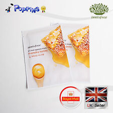 2 X New Innisfree Its Real Squeeze Series Sheet Mask Manuka Honey (20ml x 2)