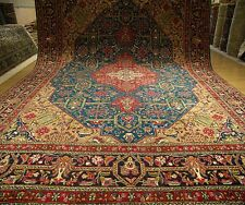 10 .4 x 13 .4 Handmade Antique Persian Tabriz Serapi Wool Rug _Beautiful Colors