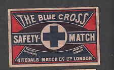 Ancienne étiquette de paquet    Allumettes   Norvège  The Blue Cross 1
