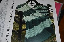 Plymouth Knitting Pattern 2019 Encore Worsted Ruffle Pillow & Afghan