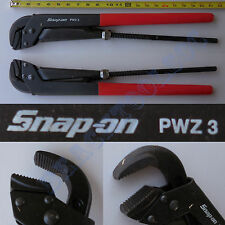 New Snap On Red Adjustable Pliers / Wrench with 3 1/2 Inches Jaw Capacity - PWZ3