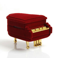 Newest Piano Ring Box Earring Pendant Wedding Jewelry Treasure Gift Case