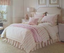 NOBLE EXCELLENCE 6 PIECE AMALFI PINK/TAUPE VILLA DUVET COVER BED SET