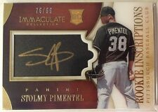 Stolmy Pimentel 2014 Panini Immaculate RC Inscriptions GOLD Ink Auto #'d 76/99