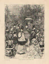 Victorian Era Fashions, Saturday Afternoon At The Crystal Palace, Antique Print,