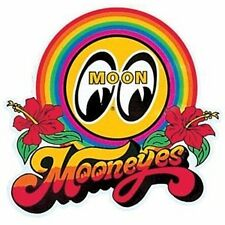 MOONEYES RAINBOW DECAL 3.5 BY 4.5 HAWAIIAN SURF DECAL