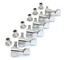 Fender Squier Chrome 2-pin Mount 6 Inline Strat/Tele Guitar Tuners 005-5401-000