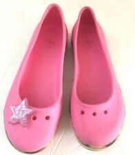 Youth Girl's Crocs Pink Clogs - Size J1