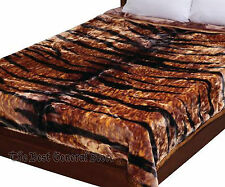 Super Soft Tiger Print Heavy Luxury Blanket Fits Queen or King Mink Style