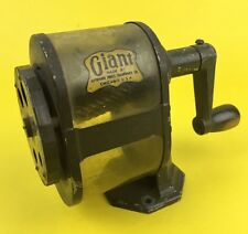 Vtg Apsco Giant Automatic Pencil Sharpener C12-R Industrial Desk Wall Loomis