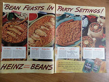 1947 Heinz 57 Ad Bean Feasts in Party Settings! Heinz Oven-Baked Beans