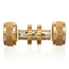 """Brass 1/2"""" Garden Washing Water Hose Pipe Connectors Joiner Joint Repair Coupler"""