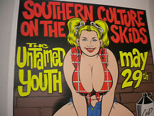 COOP SOUTHERN CULTURE ON SKIDS HILLBILLY GIRL  PIN-UP SIGNED RARE POSTER KOZIK