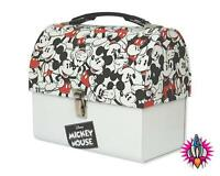 OFFICIAL DISNEY MICKEY MOUSE REPEAT MONTAGE DOMED LUNCH TIN TOTE BOX NEW