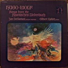 HUGO WOLF: Songs from the Spanisches Liederbuch-NM1974LP DeGAETANI/KALISH w/TEXT