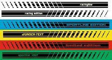 2x Seitenstreifen Motorsport - Aufkleber Racing Streifen mit Wunschtext