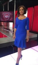 $695 LA PETITE ROBE di CHIARA BONI BRIZIA ROYAL BLUE DRESS SZ 46/10 NWT