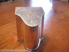 Antique 18ThC Sheffield Silver On Copper English Tea Caddy J Parsons & Co.