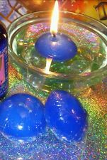 New floating candle set glass bowl pebbles 3 floating candles in 4 colours