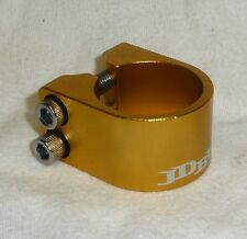 JD BUG 2 BOLT ALLOY CLAMP FOR ORIGINAL PRO & STREET SCOOTER BARS GOLD
