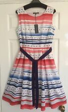 LAURA ASHLEY SEAGULLS SEASIDE COTTON LINED DRESS - 12 - BRAND NEW & TAGGED!