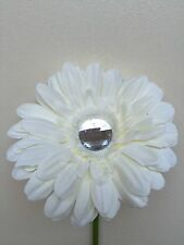 VW beetle large white daisy gerbera & gem centre dash board bud vase flower