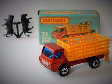 VINTAGE MATCHBOX SUPERFAST #71 CATTLE TRUCK & CATTLE MINT IN ORIGINAL K BOX 1976