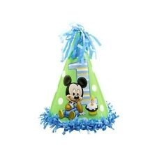 Disney Baby Mickey Mouse Happy 1st Birthday Party Paper Cone Hat