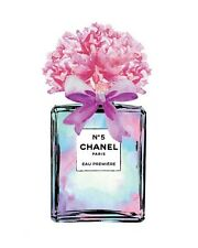 CHANEL NO 5 PERFUME FLOWER ART IMAGE A4 Poster Gloss Print Laminated