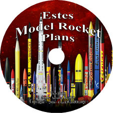 172 Estes Model Rocket Plans on CD, Rocketry Patterns Tools Decals Supplies Kits