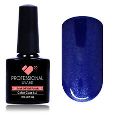 *517* VB® Line Electric Blue Metallic UV-LED Soak Off Nail Gel Color Polish