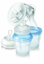 Philips Avent Comfort Manual Breast Pump - SCF330/13 - Clear - NEW