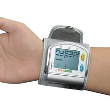 Digital LCD Display Automatic Wrist Blood Pressure Pulse Monitor Accurate High