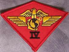 Embroidered Military Patch USMC 4th Marine Aircraft Wing Airwing NEW