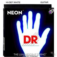 DR Strings NWE-10 Hi-Def Neon White Medium Electric Guitar Strings (10-46)