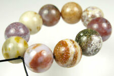 Unique Ocean Jasper Round Bead- 12mm - 10 Beads - 4465A
