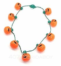 Disney Parks Halloween LED Necklace Multi-Function Jack-O-Lantern Pumpkin LIghts