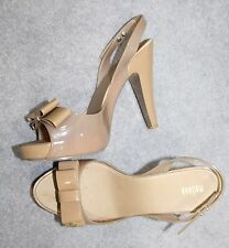 Melissa Vivienne Westwood Ladies Toffee High Heels Bow Shoes Size 7 40 Nude