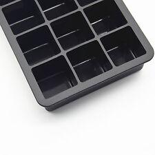 Silikon Eisform 3er Set 15-fach XXL JUMBO Eiswürfel Eiswürfelformen Riesige
