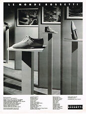 PUBLICITE ADVERTISING 074  1990   FRATELLI ROSSETTI   chaussures