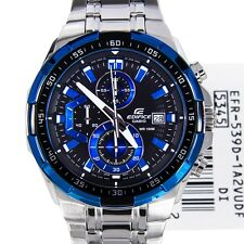 casio EFR-539 1a2v chronograph mens watch BLUE DIAL STEEL CHAIN..IMPORTED ITEM