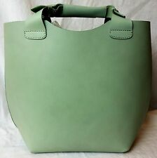 Ex Zara leather bucket hagbag mint new RRp £60