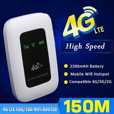 150Mbps 4G LTE Wireless Router Mobile Wifi Hotspot with SIM Card 2200mAh Battery