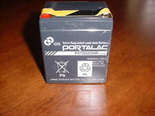 NEVER USED LEAD ACID RECHARGEABLE BATTERY 12 VOLT 5AH ALARM INVISIBLE FENCE USE